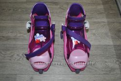 Ролики розовые 32-37 раздвижные на обувь для обучения