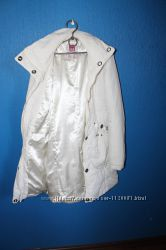 белый пуховик-пальто MOTOR JEANS