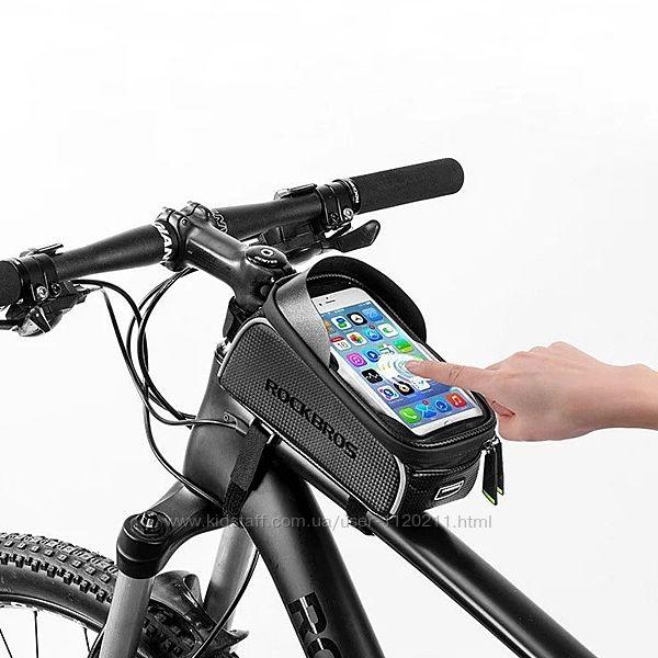 Велосумка для смартфона на раму, вело сумка для телефона RockBros