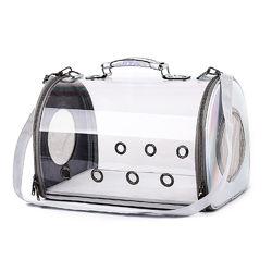 Сумка переноска Pet прозрачная для домашних животных кошек, собак, кролико