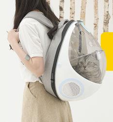 Рюкзак-переноска и лежак 2в1 Purrpy для домашних животных кошек, собак, кр