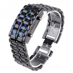 Часы-браслет Iron Samurai, Айрон Самурай серебристые черные