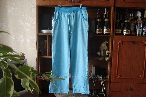 L-xl леновые летние штаны 70 лен