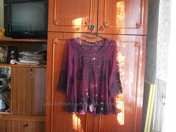Topshop-12/40 р. - шифоновая брендовая блуза очень красивая
