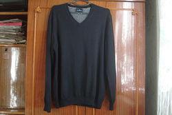 L-xl брендовый мужской теплый свитер blu harbour от marksspencer 100 cott