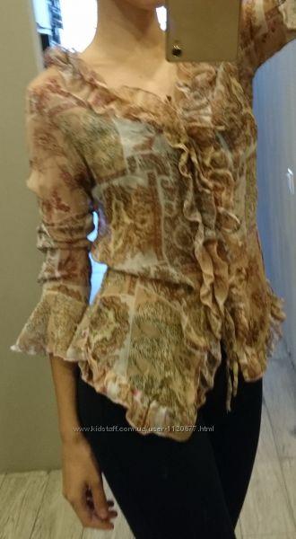 Блуза с рюшами, S-M