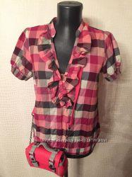Летняя блузка рубашка в клетку H&M