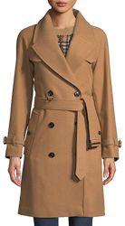 Шерстяное кашемировое пальто бежевое кемел wool & cashmere в стиле Max Mara