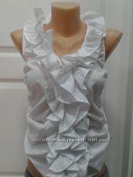 Блуза белая с воланами. Англия