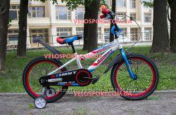 Детский двухколесный велосипед для мальчика и девочки Azimut Fiber 18