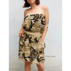 Платье-сарафан в камуфляжном принте  лето