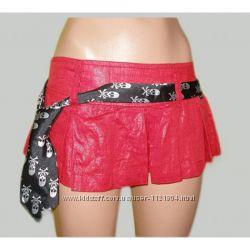 Льняные юбка-шорты с поясом - галстуком Victoria Beckham