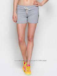 Женские шорты с лампасами из трикотажа  светло-серый меланж, черный , синий
