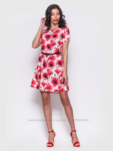 Нежное платье  в цветочном принте лето