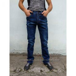 джинсы мужские Baron прямые  демисезон синий