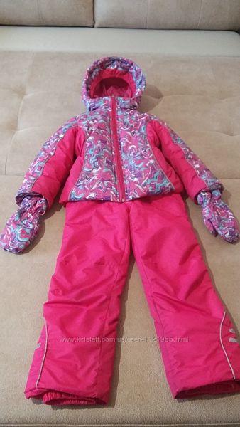 Зимний комбинезон раздельный. куртка, полукомбинезон, краги 110