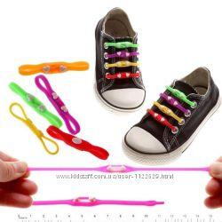 Распродажа Силиконовые шнурки для обуви M-tie, наборы по 12 шт