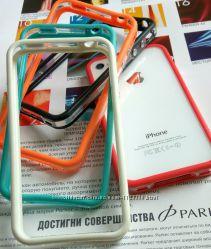бампер чехол силикон айфон iPhone 4 4s 5 5s se 6 6s