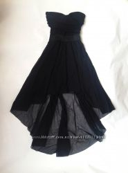 Шикарное чёрное удлинённое платье бюстье Tally Weijl