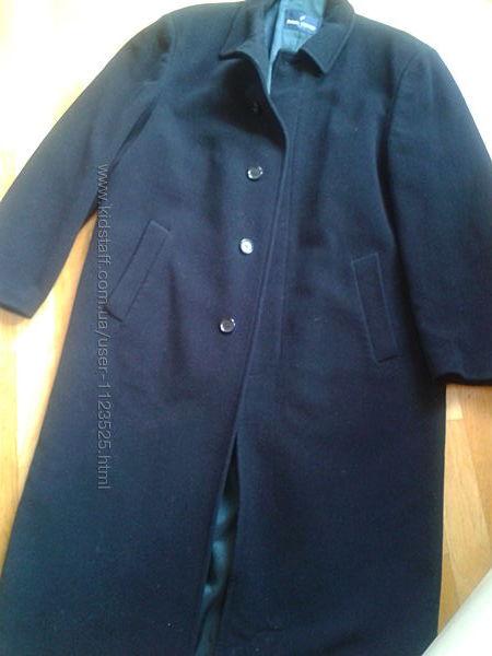 пальто шерсть кашемір чорне Daniel HECHTER Paris