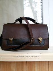 Женская сумка-портфель из натуральной кожи