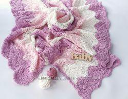 Плед для новорожденной девочки