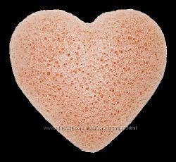 Спонж konjac розовый - с розовой глиной. Акционная цена Губка Gessie конжак