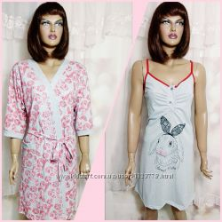 Женский комплект халат и сорочка