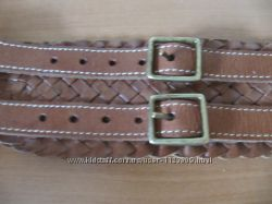 Ремень пояс широкий коричневый коричневый плетеный