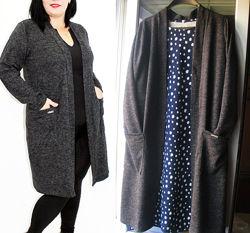 Кардиган трикотажный, легкое пальто, размер 50-52 укр