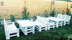 Декоративная мебель из поддонов диван стол кресло тумбы стелажи и др
