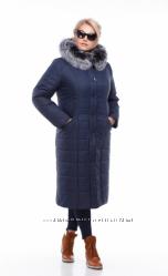 Зимнее женское пальто из плащёвки