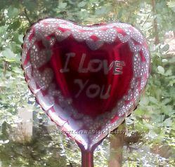 Шар из фольги сердце 18дюймов 2 вида