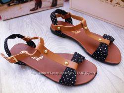 босоножки сандалии женские горошек