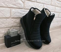 мужские зимние сапоги ботинки дутики