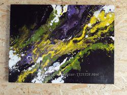 Большая абстрактная оригинальная картина на холсте