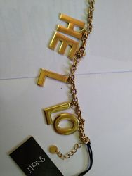 Крутой массивный браслет со словом hello от бренда Nali