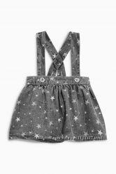 стильная юбка с подтяжками