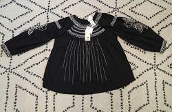 Шикарная блуза туника с вышивкой h&m studio распродажа