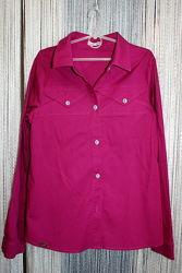 Блуза, рубашка ТМ Suzie, цвета фуксии. Размер - 158