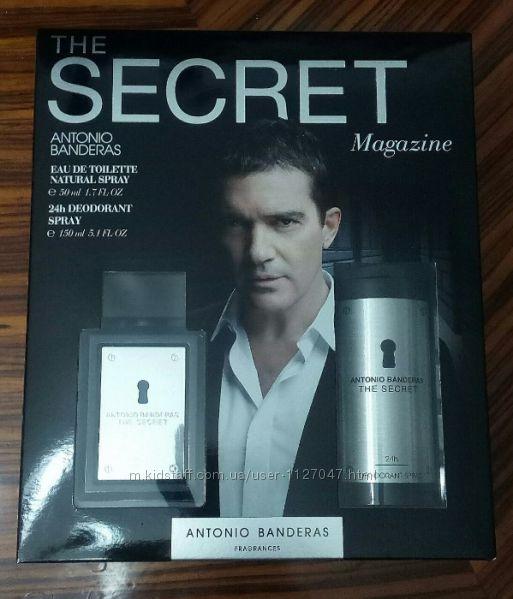 ANTONIO BANDERAS Набор The Secret edt 50 ml дезодорант 24ч Испания Оригинал