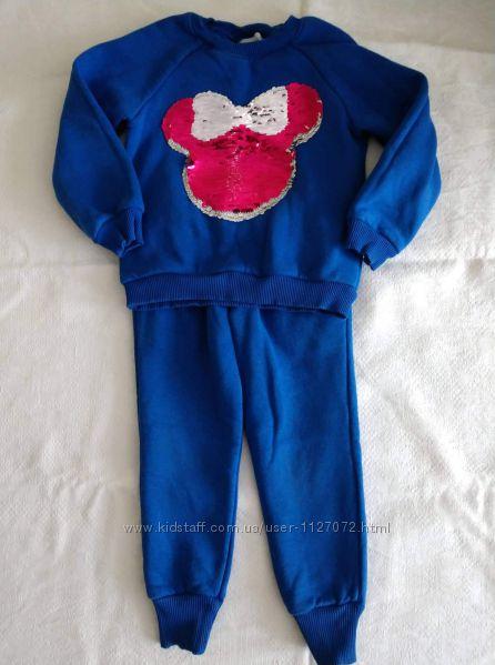 Модный спортивный костюм для девочки 110 см состояние нового