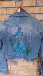 Художественная роспись на одежде, роспись на джинсовой одежде