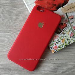 Красный и черный матовый силиконовый чехол iphone 6plus и 6S plus