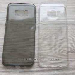 Прозрачный или серный силиконовый чехол для Samsung Galaxy S8