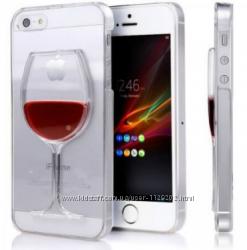 Бокал вина чехол для iPhone 5 5S 5SE 6 6S