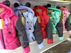 Куртка-жилетка для девочки деми Минни Маус