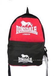 Спортивный молодежный школьный рюкзак Lonsdale КРАСНЫЙ