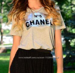 Футболка Chanel серая