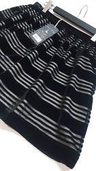 шикарная нарядная юбка Jack Wills с бархатными полосками